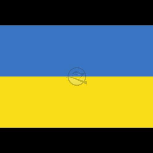 Zászló ukrán 20 x 30 cm